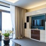 шкаф в гостиной оформление