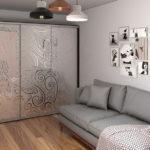 шкаф в гостиной оформление фото