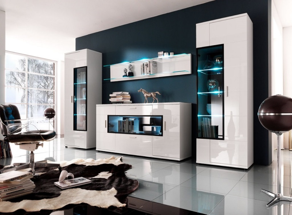 шкаф в гостиную модульный фото