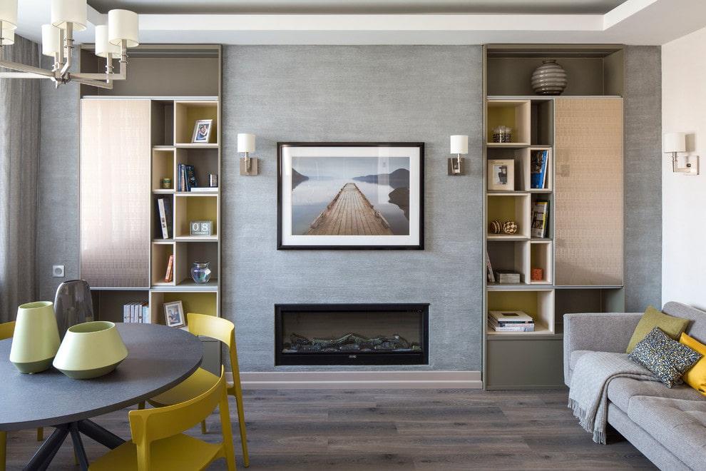 шкаф в гостиную встроенный фото