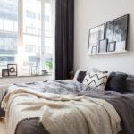 спальня в скандинавском стиле оформление