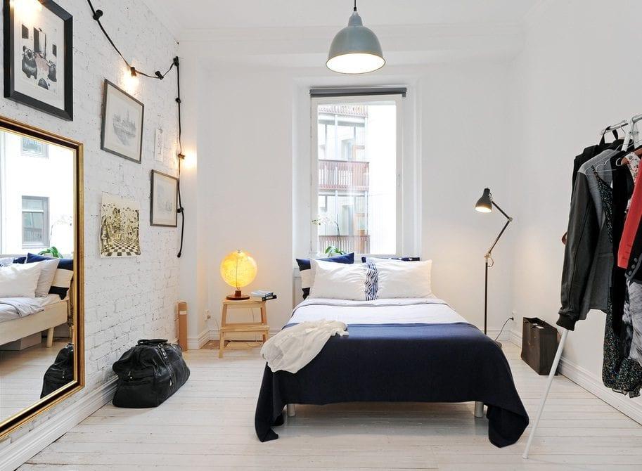 спальня в скандинавском стиле идеи интерьер