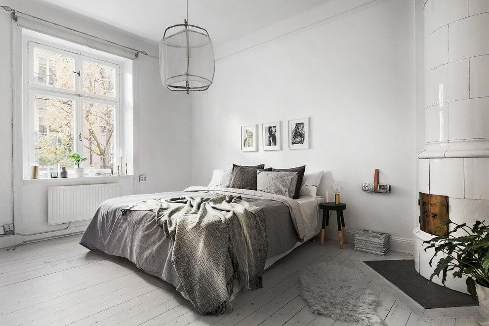 спальня в скандинавском стиле интерьер