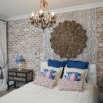 спальня в стиле лофт интерьер