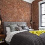 спальня в стиле лофт оформление фото
