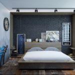 спальня в стиле лофт варианты