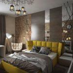 спальня в стиле лофт варианты фото
