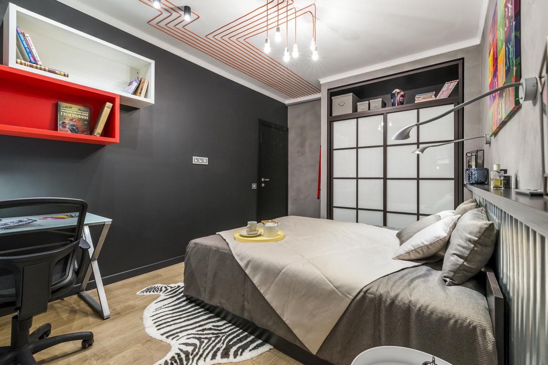 спальня в стиле лофт дизайн идеи