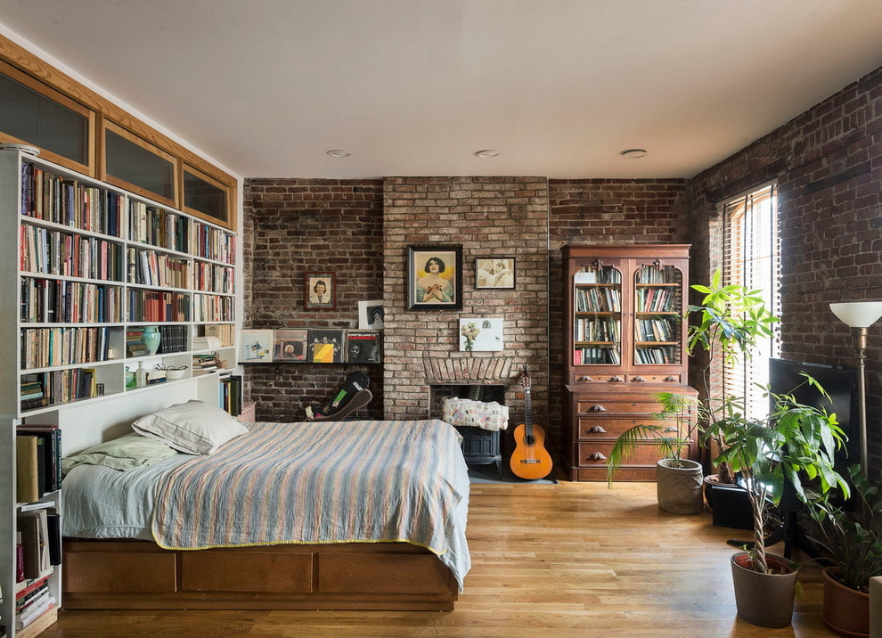 спальня в стиле лофт идеи декора