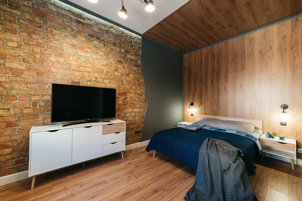 спальня в стиле лофт идеи интерьера