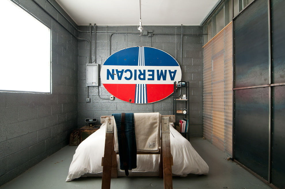спальня в стиле лофт идеи