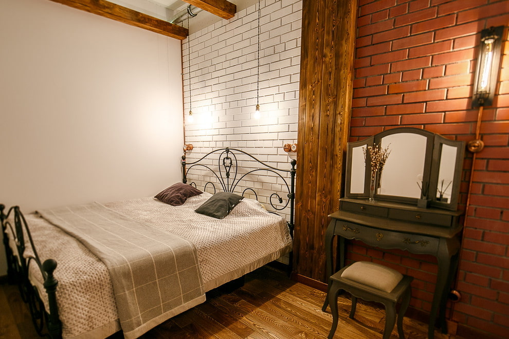 спальня в стиле лофт интерьер фото
