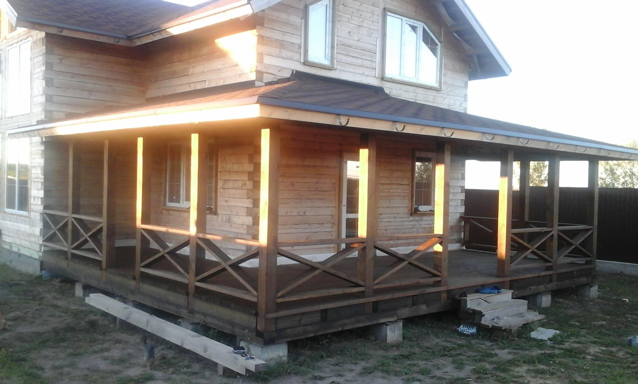 строительство веранды для дома