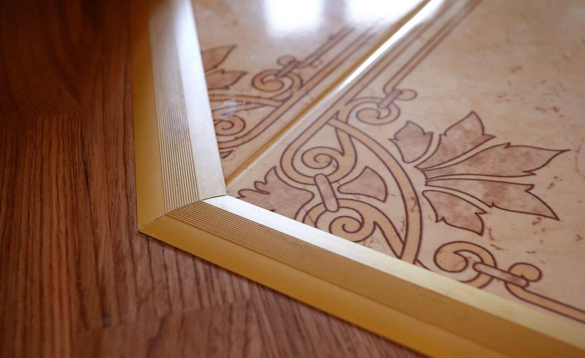 стык ламината и плитки дизайн