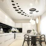 светильники для натяжных потолков идеи вариантов