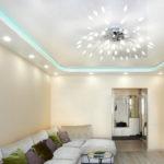 светильники для натяжных потолков оформление фото