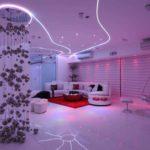 светильники для натяжных потолков идеи дизайн