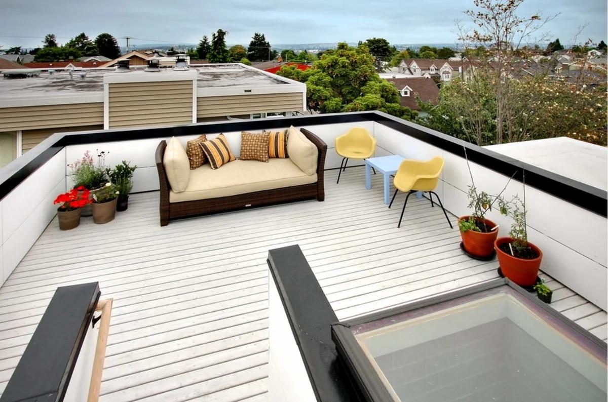 терраса на крыше дома