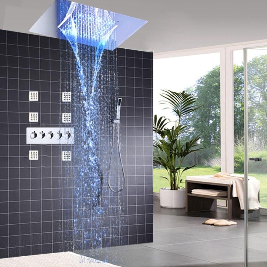 тропический душ в эко стиле