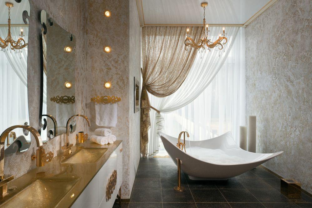 ванна из литьевого мрамора ассиметричная