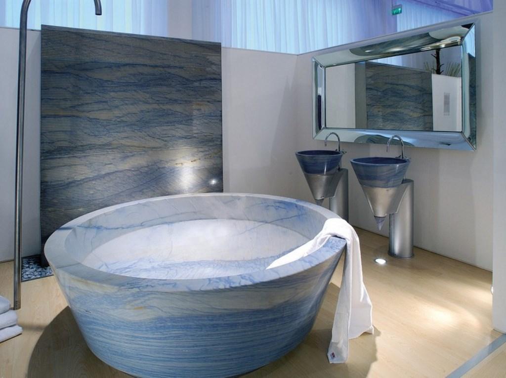 ванна из литьевого мрамора круглая