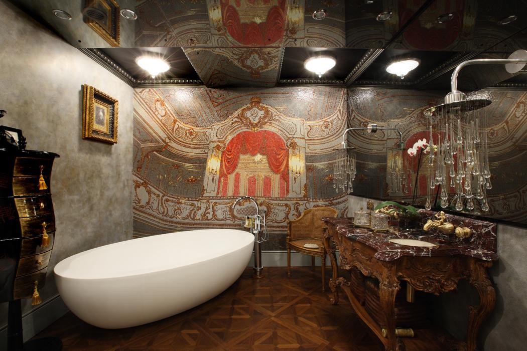 ванна из литьевого мрамора оформление фото