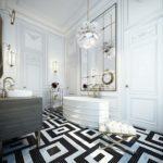 ванная комната в белом цвете декор фото