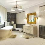 ванная комната в классическом стиле фото декора