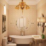ванная комната в классическом стиле виды оформления