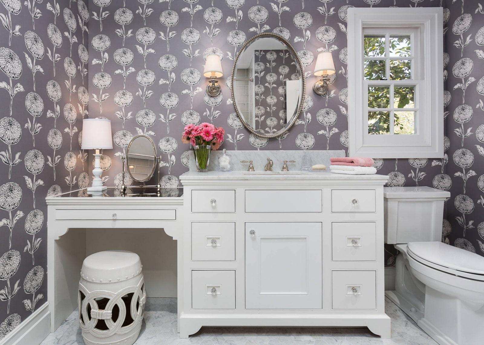 ванная комната в классическом стиле мебель