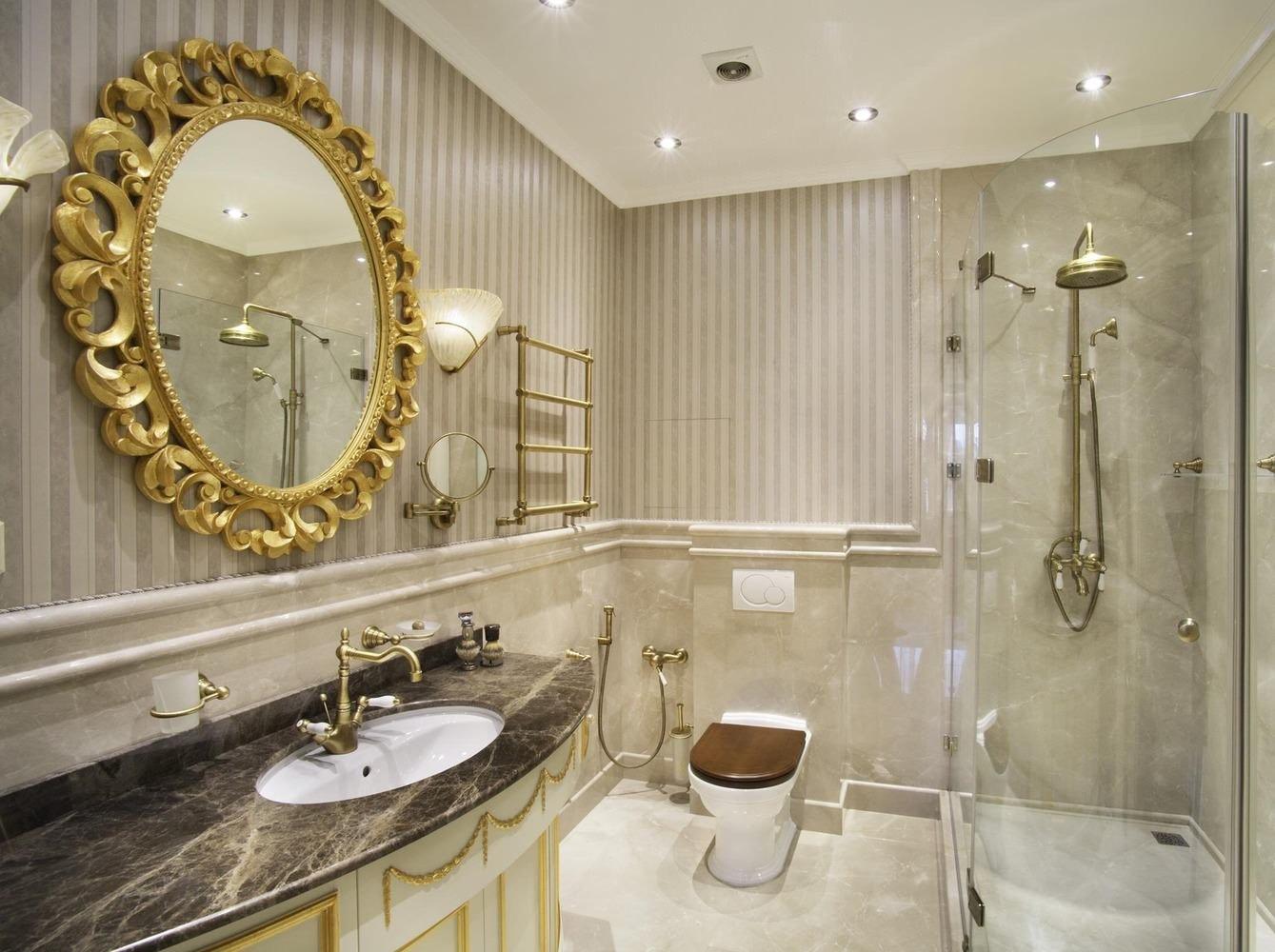 ванная комната в классическом стиле небольшая