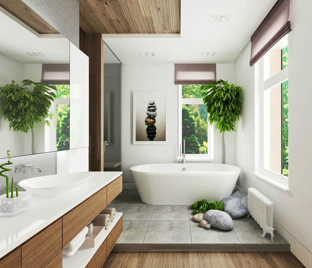 ванная комната в скандинавском стиле декор фото