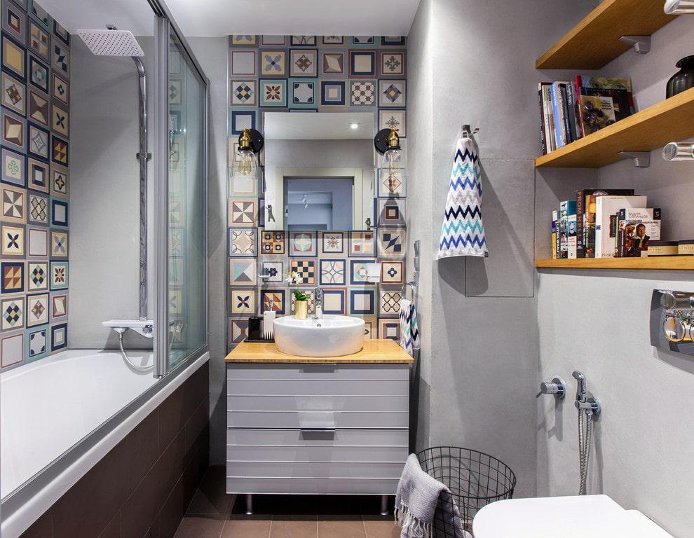 ванная комната в скандинавском стиле фото интерьера