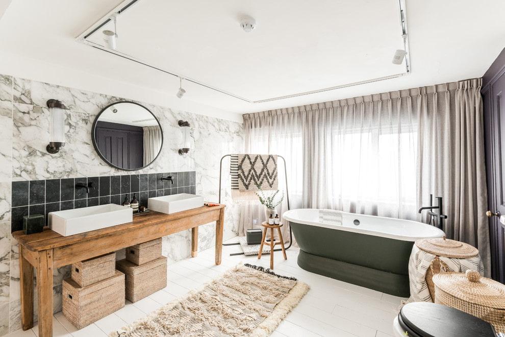 ванная комната в скандинавском стиле идеи интерьера