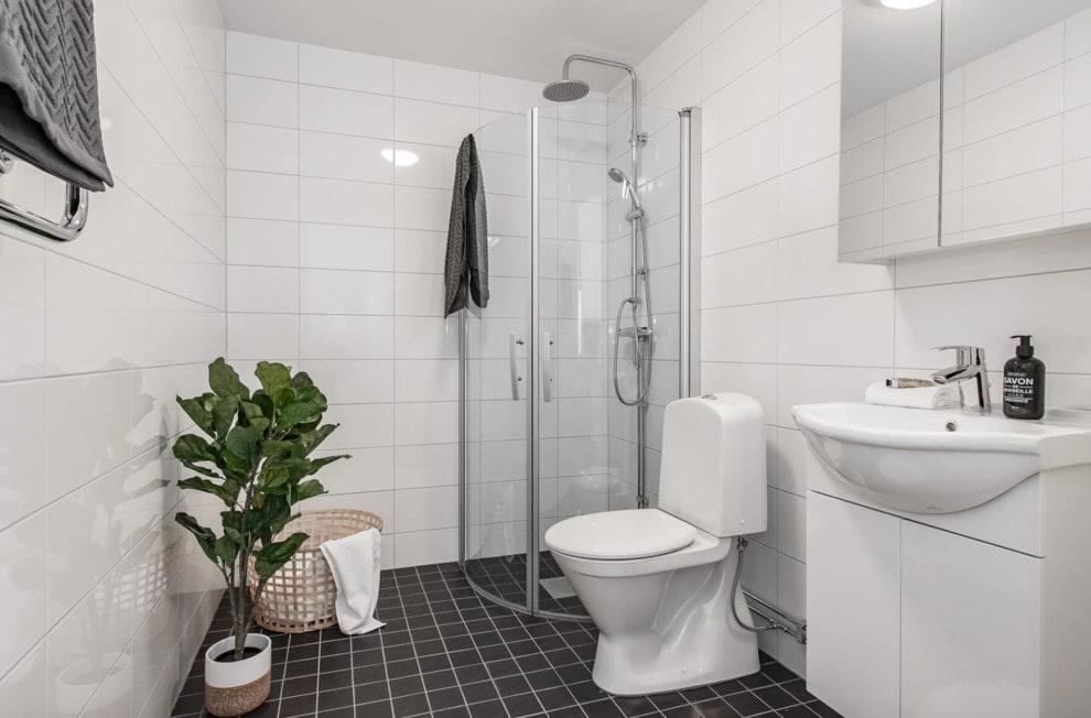 ванная комната в скандинавском стиле интерьер