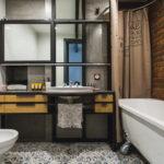 ванная комната в стиле лофт фото интерьера