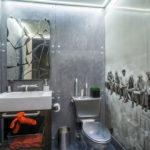 ванная комната в стиле лофт оформление