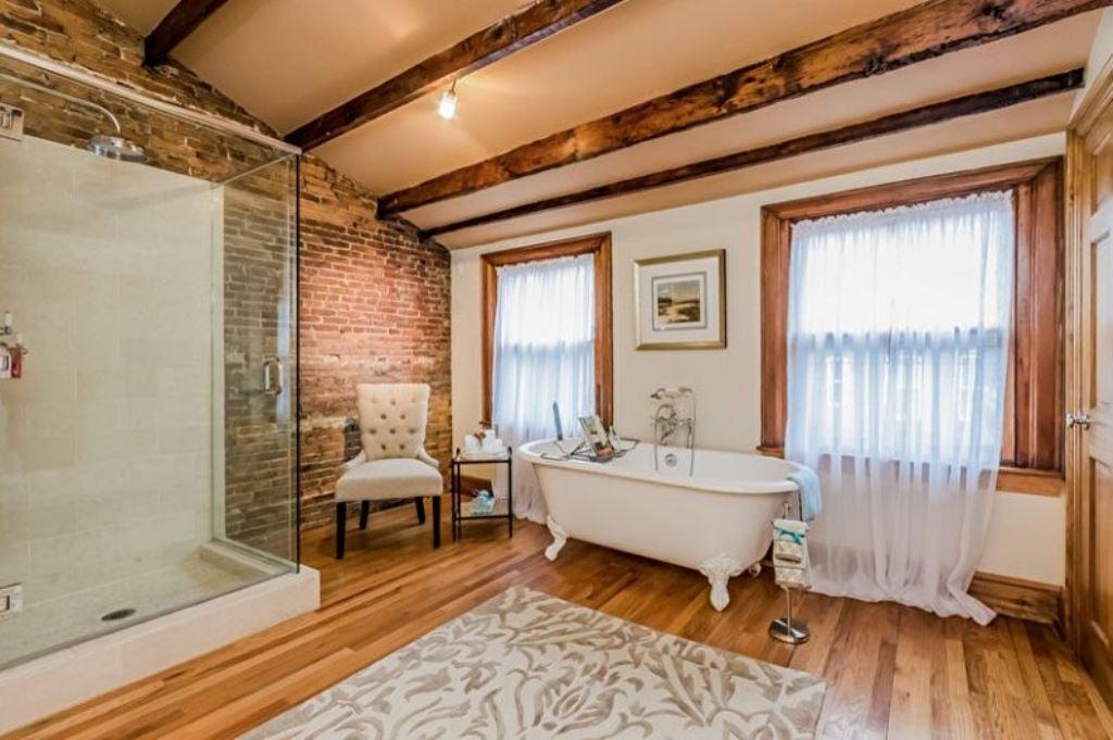 ванная комната в стиле лофт дизайн ванны