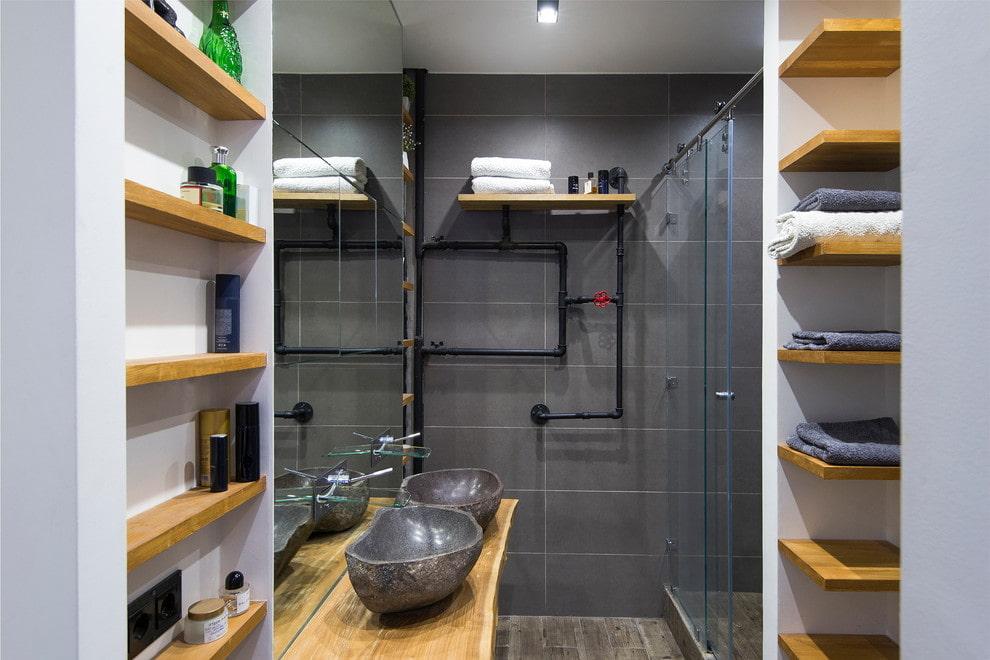 ванная комната в стиле лофт фото дизайн