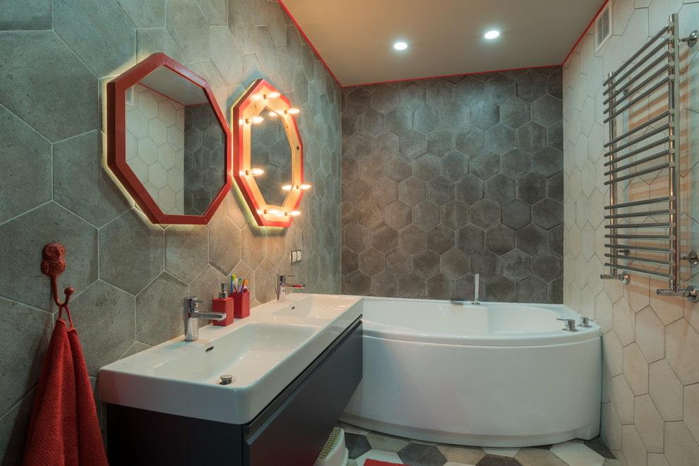 ванная комната в стиле лофт фото дизайна
