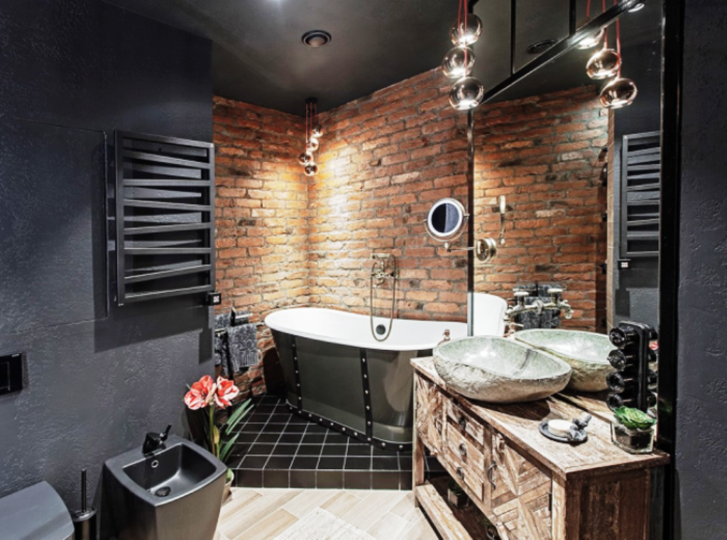 ванная комната в стиле лофт идеи фото