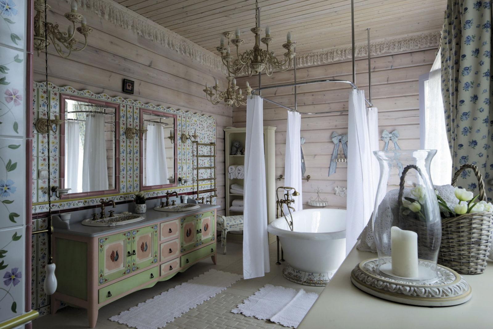 ванная комната в стиле прованс идеи фото