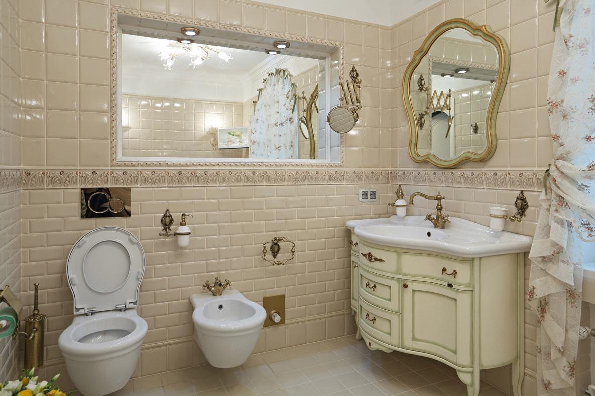 ванная комната в стиле прованс сантехника
