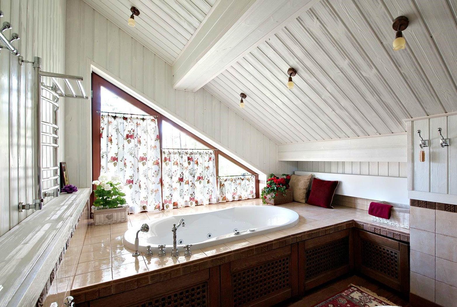 ванная комната в стиле прованс текстиль