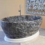 ванны из литьевого мрамора оформление