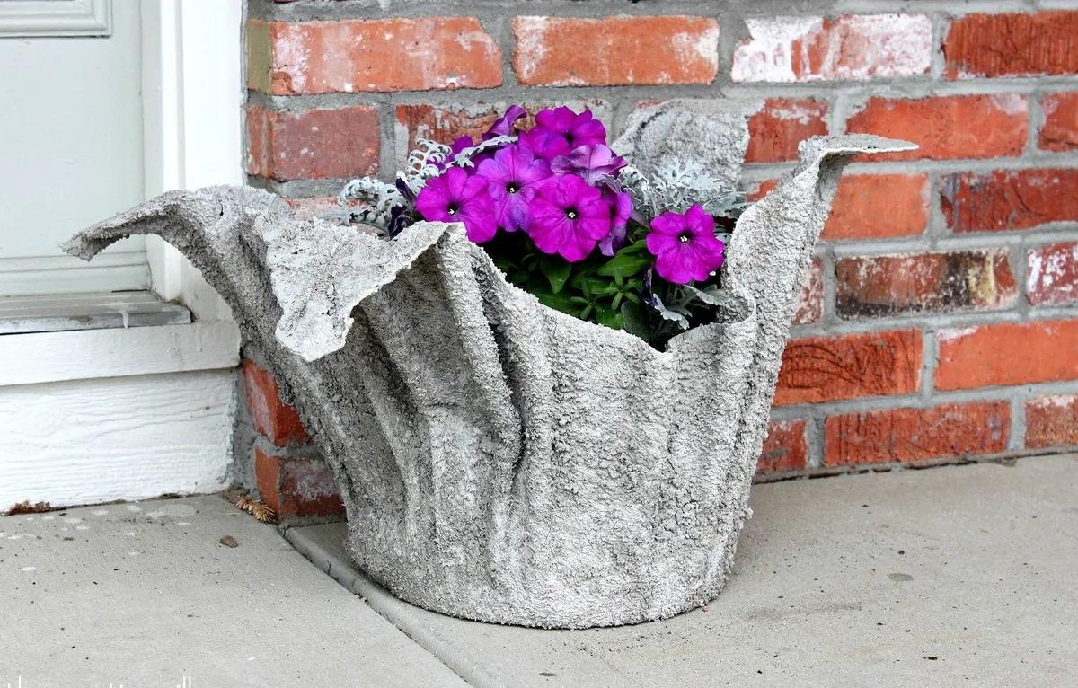 вазоны для цветов из цемента