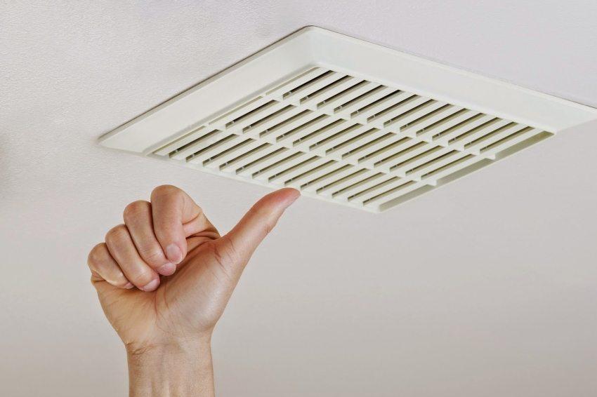оформление вентиляции в ванной