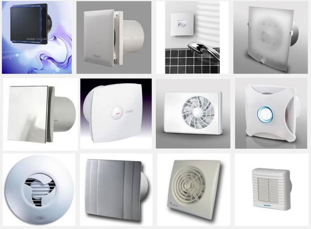 вентиляторы для вытяжки в ванной виды