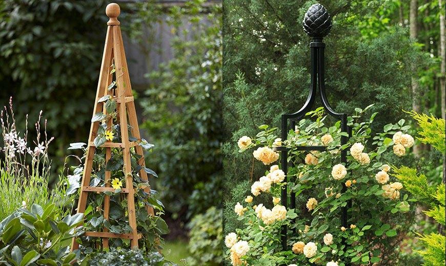 обелиски в саду