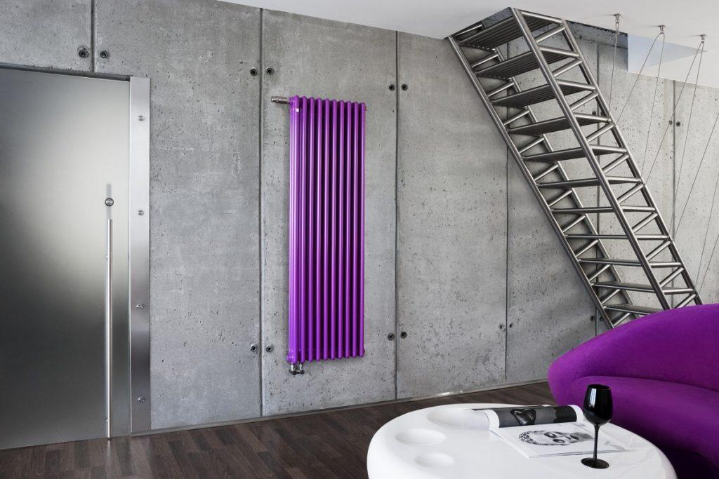 вертикальный радиатор отопления лофт